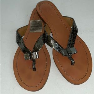 Coach | Sable Crackled Strap Sandals